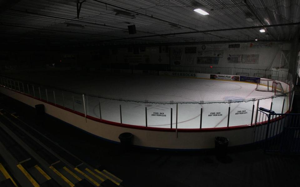 Ristuccia Arena in Wilmington, Mass., where the Bruins hold training camp, stood empty in September.