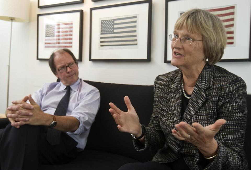 """A lot of our assumptions today have their roots in that period,"" says Drew Gilpin Faust (right) with Ric Burns."