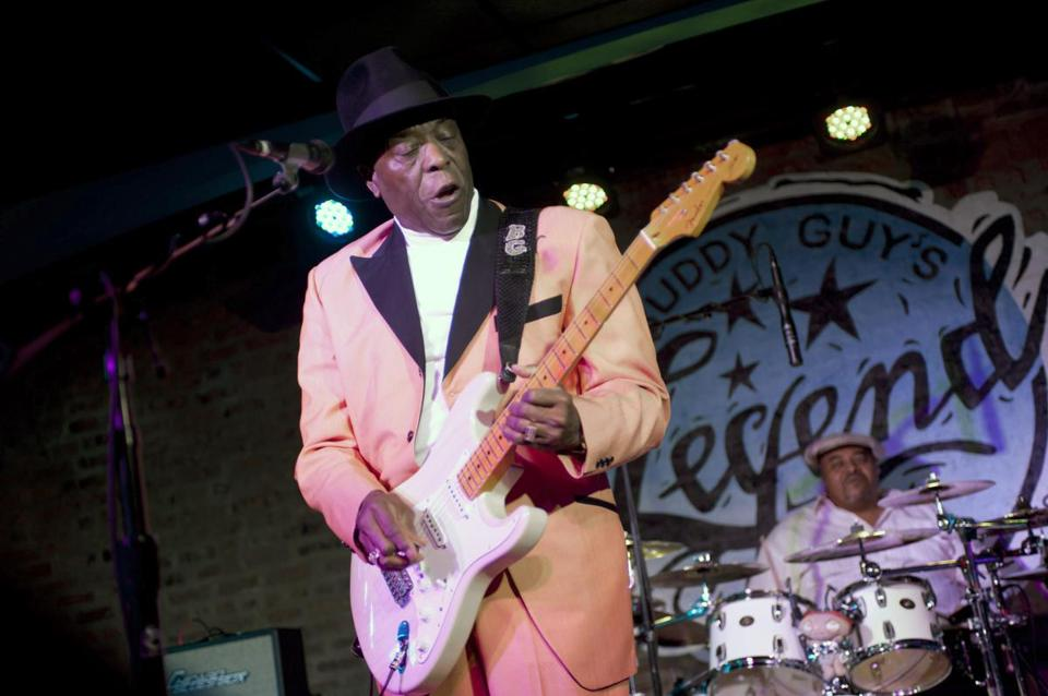 Buddy Guy, a long-ago native of Louisiana (pictured here, at 75, in January) performs at his Buddy Guy's Legends blues club on Chicago's South Side.