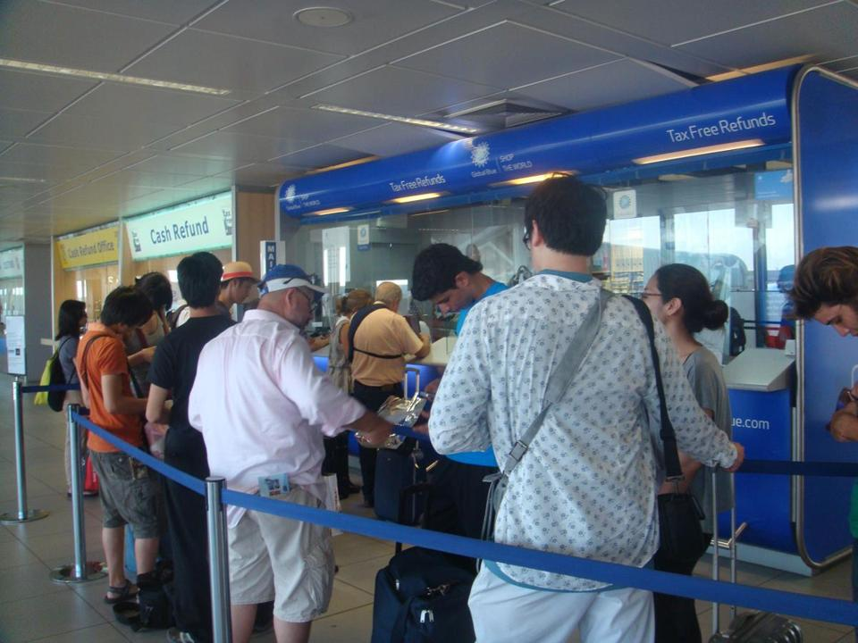 Lines can be long at the airport to get your VAT refund, so arrive early and be patient.