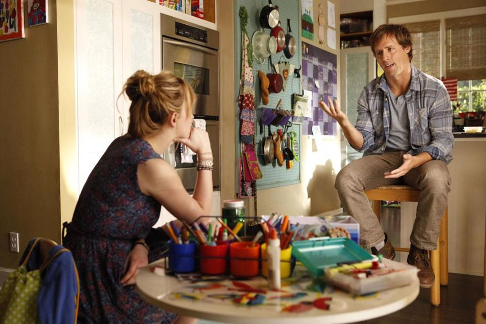 "Dakota Johnson and Nat Faxon in ""Ben and Kate"" on Fox."