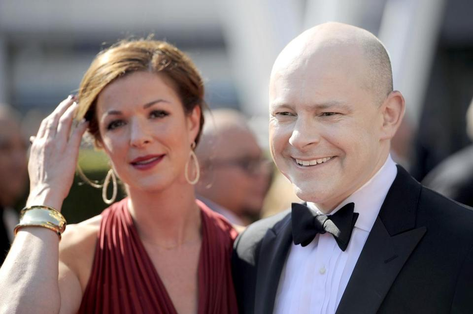 Rob Corddry and his wife, Sandra, at the 2012 Creative Arts Emmys in LA.