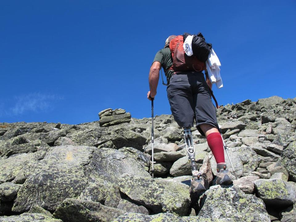 "Army veteran Thomas Jude Carroll, who lost his leg in a motorcycle accident, on joining this VetEx climb up Mount Washington: ""I hope someone out there sees me and it hits them that they can do it, too."""