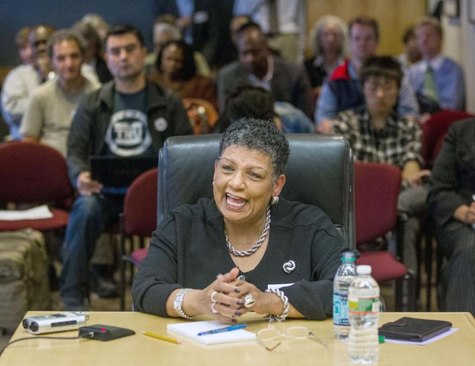 Beverly A. Scott was interviewed Monday at a Department of Transportation boardroom.