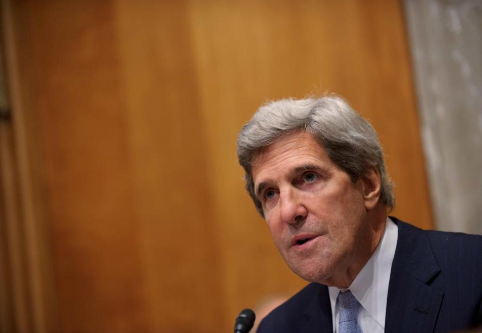 Senate Foreign Relations Committee Chairman John Kerry at a hearing on Sept. 19.