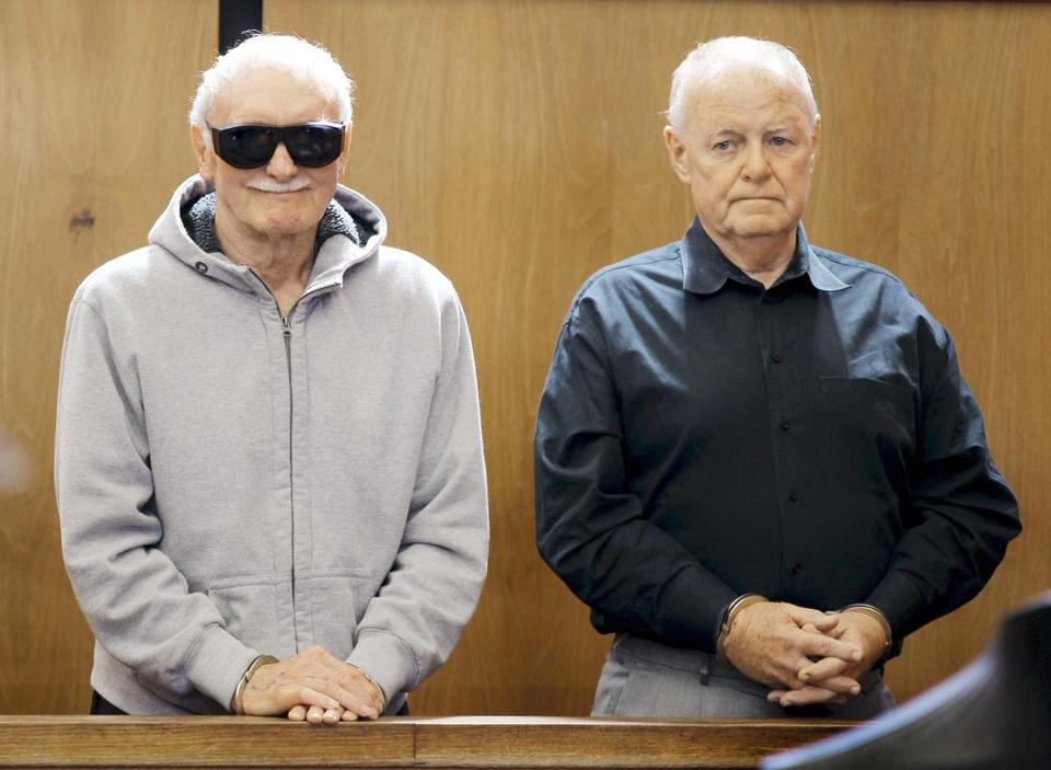 Howie Winter (left) and James Melvin during their arraignment at Somerville District Court in June.