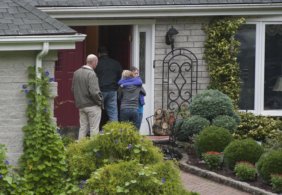 Visitors arrived at the home of Jeffrey Giuliano, the teacher who shot a masked prowler who turned out to be his son.