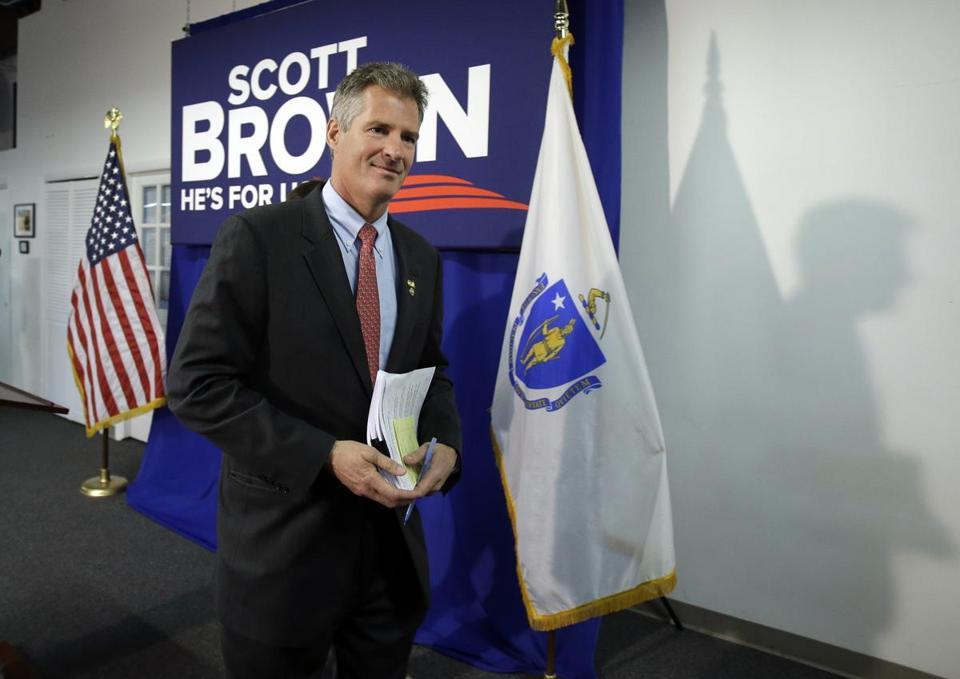 Senator Brown's fund-raising on the national level, where money is crucial and anger at Democrats is high, can strike a far different tone.