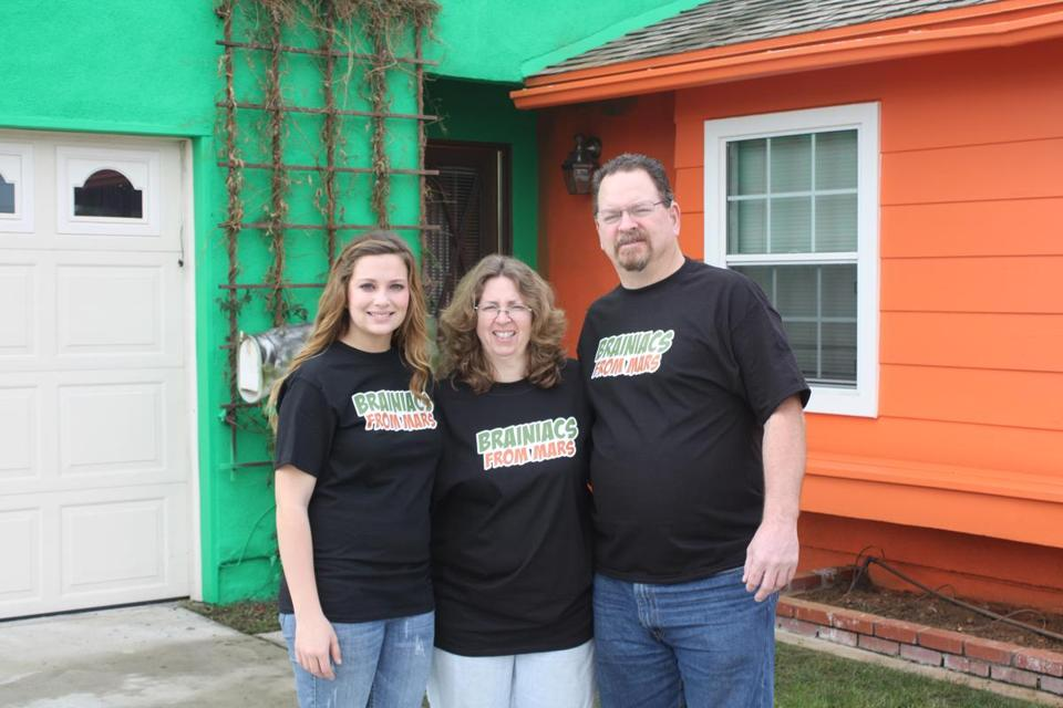 Sarah, Beth, and Scott Hostetler of Buena Park, Calif., were the first to try the program.