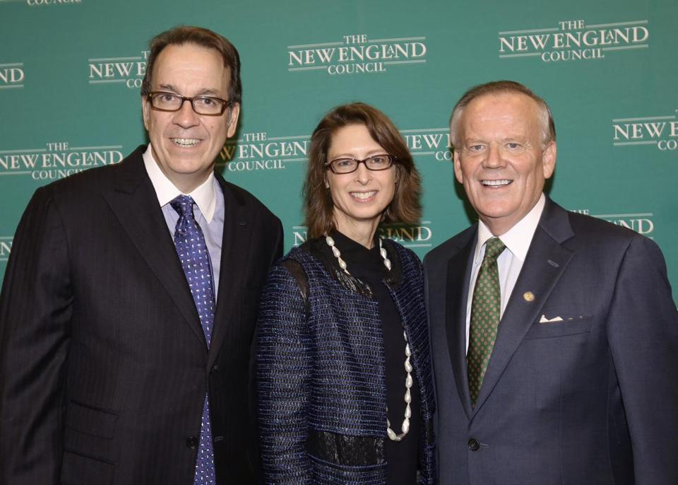 Fidelity Investments CEO Abigail Johnson is the sole woman with the Massachusetts Competitive Partnership group.