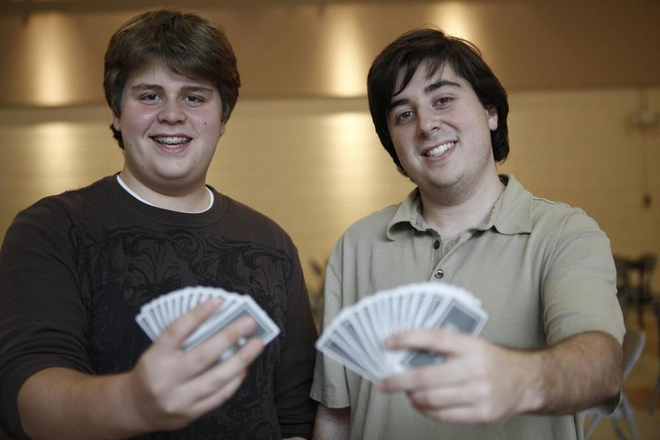 Newton's Zach Grossack, 15, (left) and his brother Adam, 20, are taking the bridge world by storm.