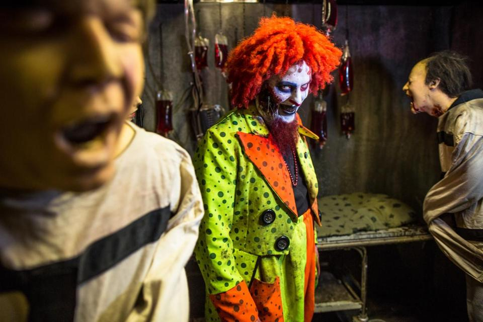 some haunted houses wont send in the clowns this halloween the boston globe