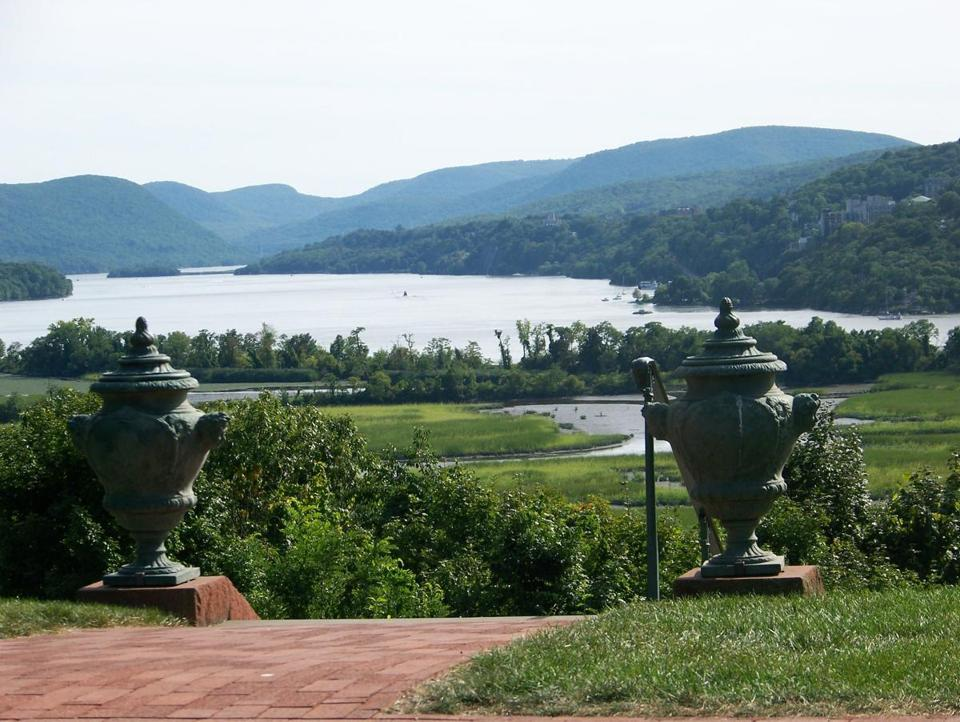 Boscobel House and Gardens, home of collections of furniture and decorative arts from the early-19th-century Federalist period, overlooks the Hudson River.