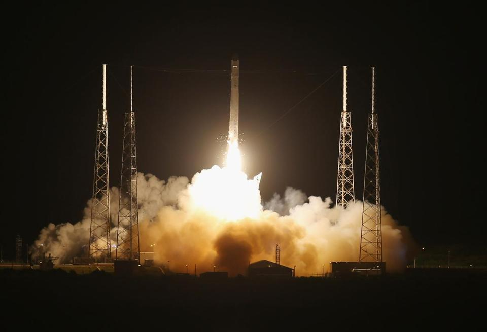 California-based SpaceX launched its unmanned Falcon 9 rocket, laden with equipment, from Cape Canaveral Sunday.