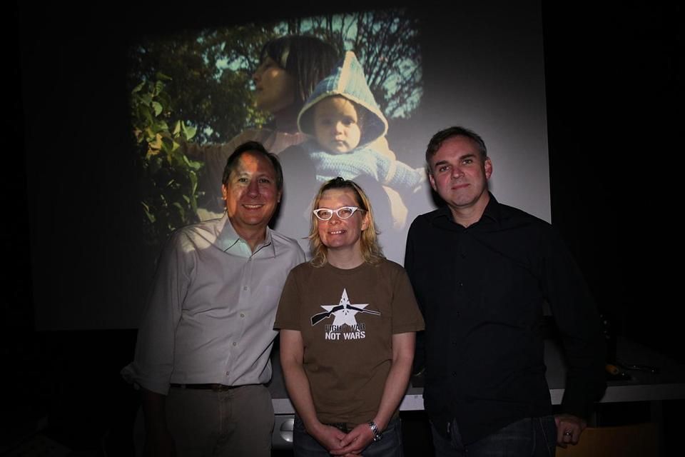 From left: Reed Sturtevant, Liz Coffey, and Gordon Nelson, who will be participating in Home Movie Day on Saturday.