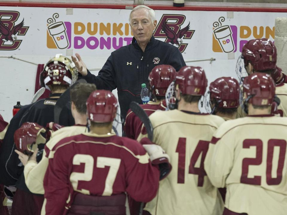 Boston College coach Jerry York is an affable man, but his resolve is steely when it comes to winning hockey games.