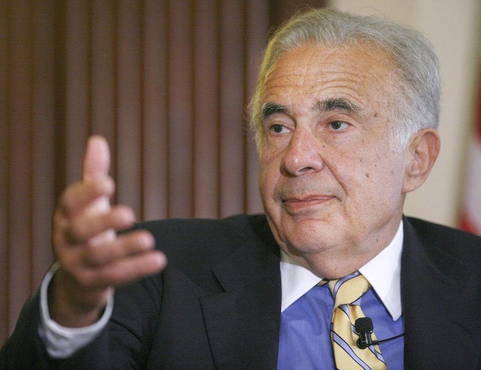 Activist investor Carl Icahn said he already owns a 10 percent stake in Oshkosh Corp., based in Oshkosh, Wis.