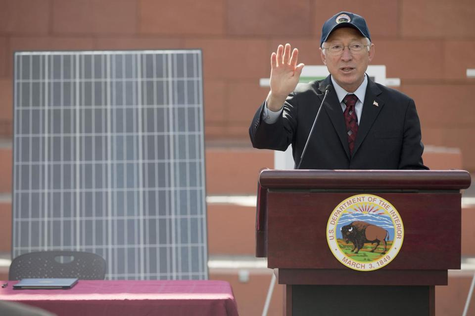 "Interior Secretary Ken Salazar said the plan was a roadmap for ""faster, smarter utility-scale solar development."""