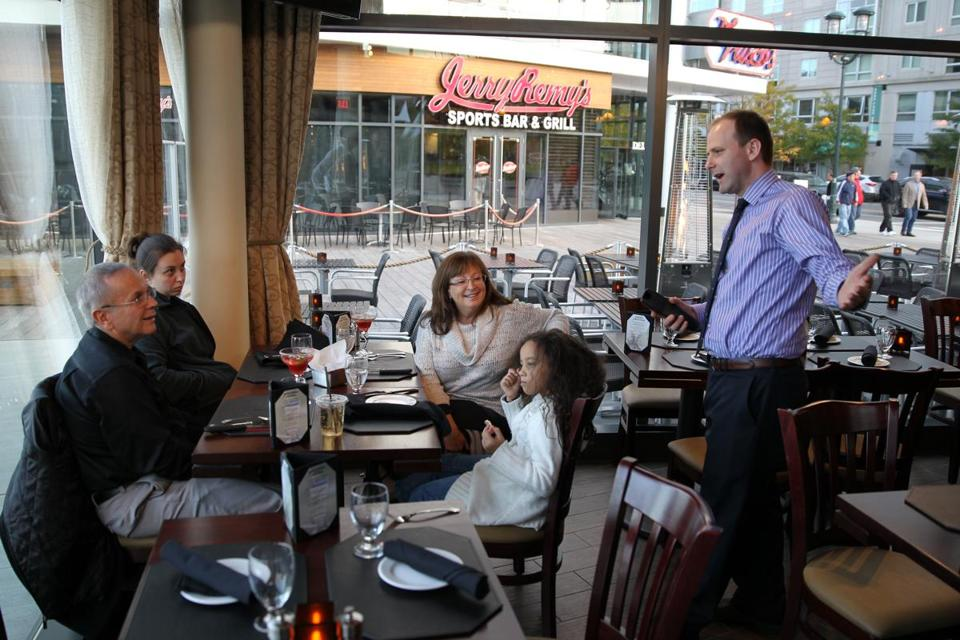 75 on Liberty Wharf held a family and friends evening before opening to the public. The restaurant is in a 1,500-square-foot glass kiosk on Boston Harbor.