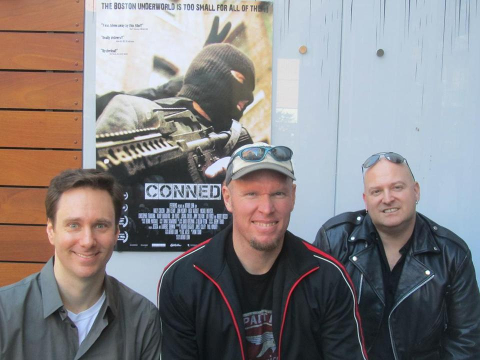"The ""Conned"" team (from left): director of photography Jeremy Traub, director Arthur Luhn, and composer Munk Duane."