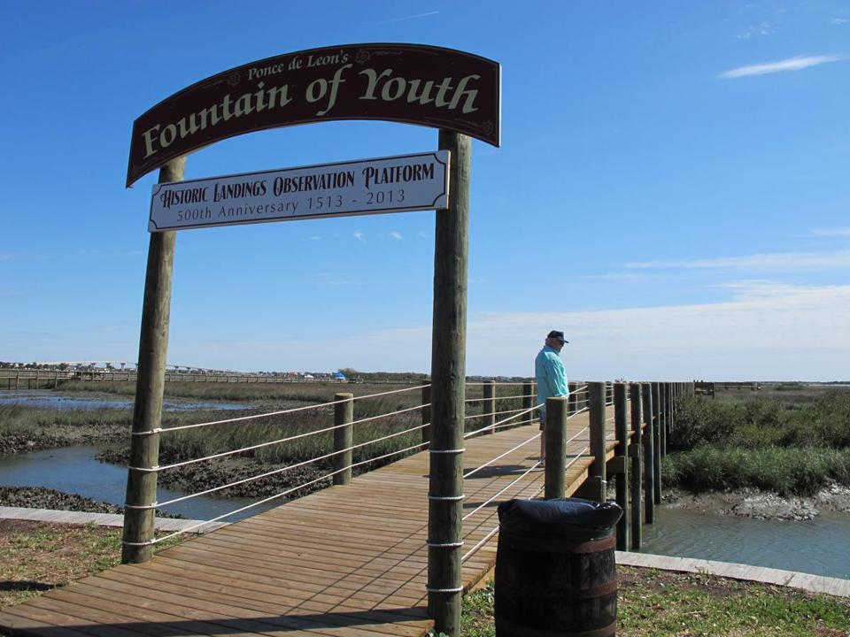 A new boardwalk in St. Augustine extends 600 feet across the marshes to the ocean. The nation's oldest city is preparing with a variety of projects to mark the 500th anniversary next March of Ponce de Leon's discovery of La Florida.