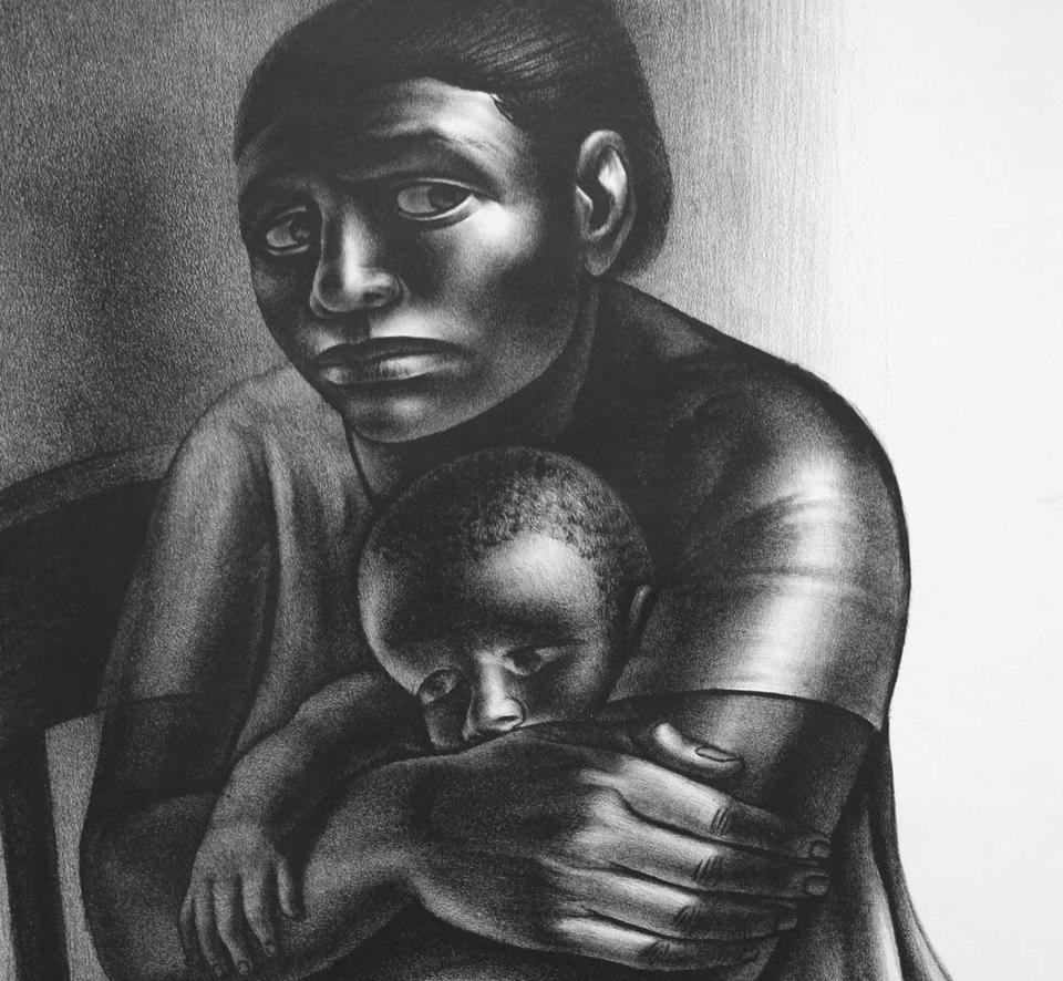 "John Wilson's ""Mother and Child'' at Martha Richardson Fine Art."