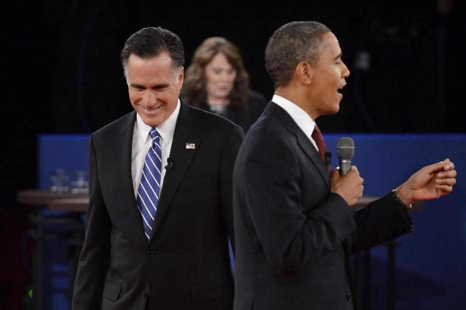 Republican Mitt Romney and President Barack Obama squared off in the second presidential debate Tuesday, which was moderated by Candy Crowley.