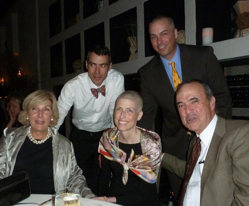 Suzanne Donahue, surrounded by her parents Kathy and David and brothers Alec and Mark (back).