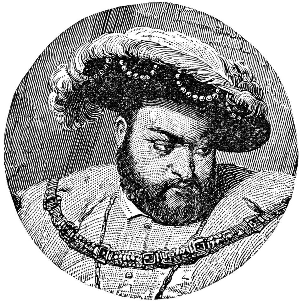A period etching of King Henry VIII.