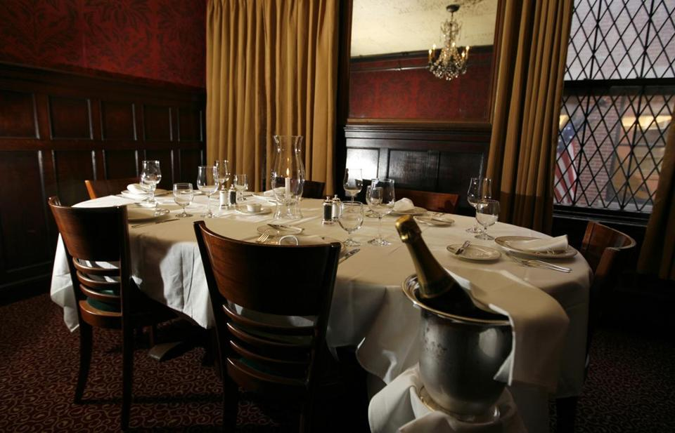 The John F. Kennedy room is where the former president dined with friends at the Boston landmark. Locke-Ober, which opened in 1875, closed Saturday.