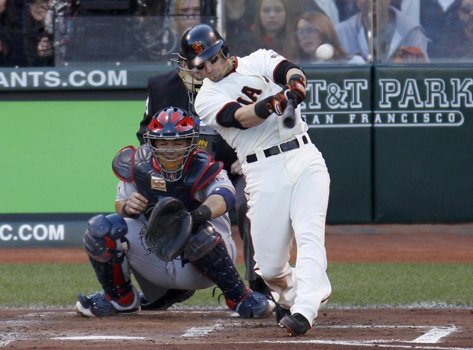Marco Scutaro was a giant, going 2 for 3 with two RBIs in San Francisco's Game 6 win.