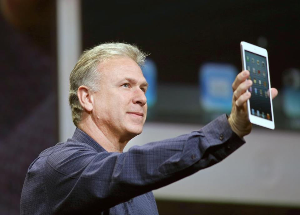 "The new mini ""isn't just a shrunken down iPad,"" Apple vice president Phil Schiller said."