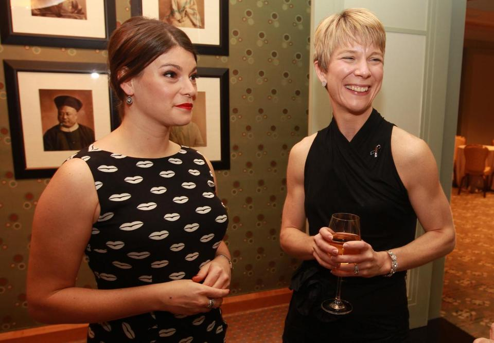 Gail Simmons (left) and Amy Walls, president of the Melanoma Foundation of New England, at the gala.