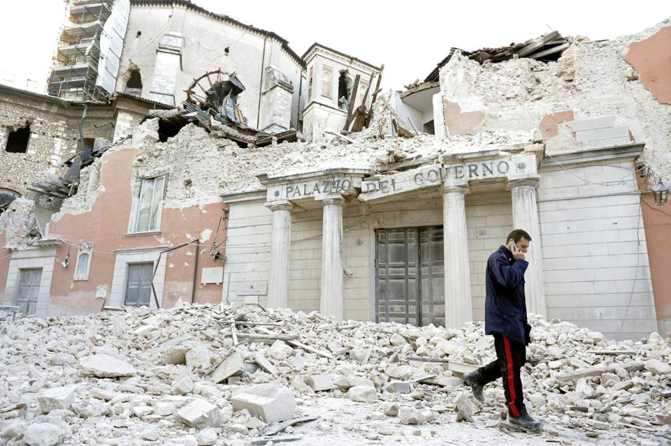 Downtown Aquila, Italy, was decimated in a 6.3 magnitude earthquate in 2009.