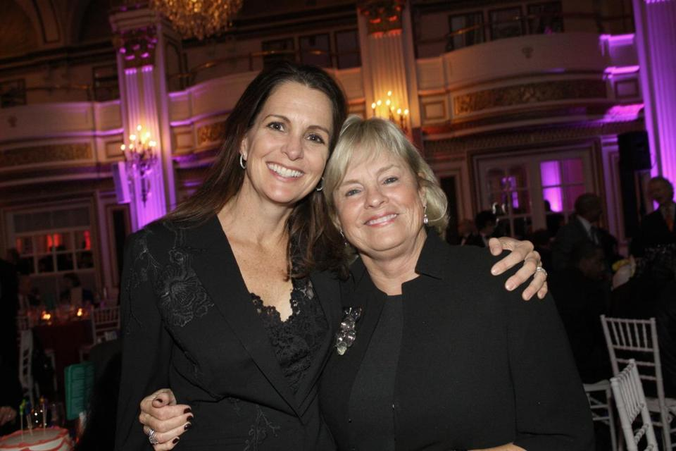 Stacey Lucchino (left) and Eileen Connors attended the celebration.