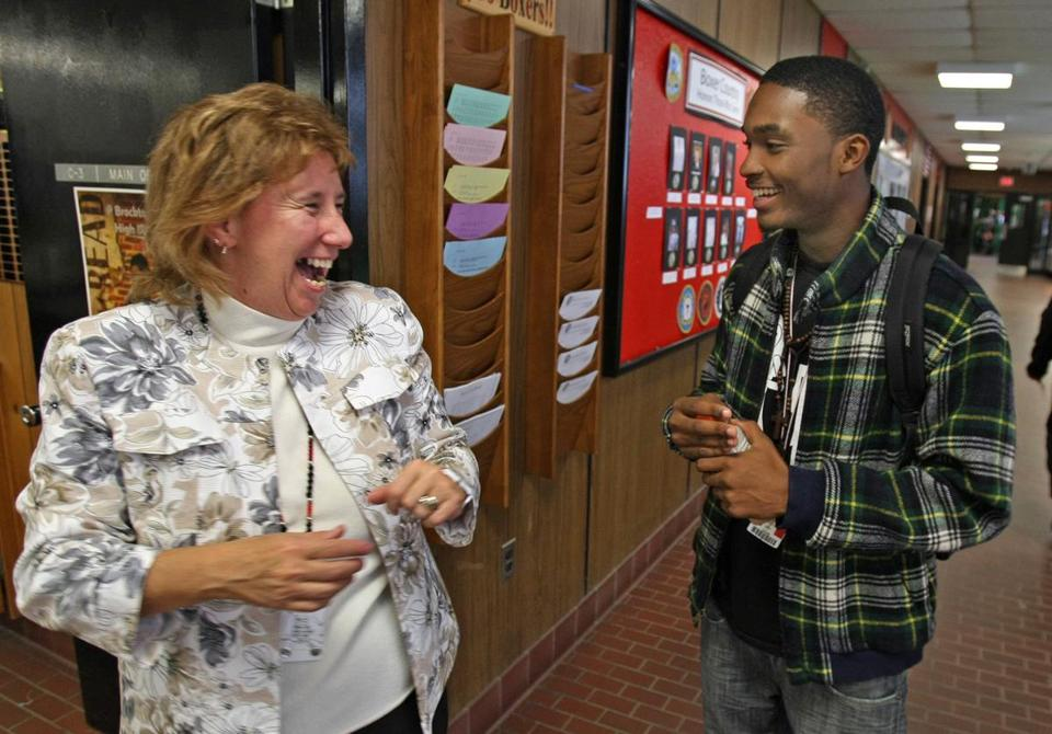 Principal Susan Szachowicz, herself a Brockton High graduate, has been part of the school for nearly 40 years.
