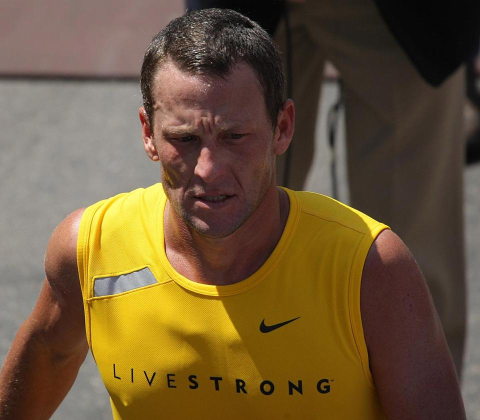 Lance Armstrong finished in No. 497 at the 2008 Boston Marathon, but the BAA will remove his finish after hearing from the US Anti-Doping Agency.