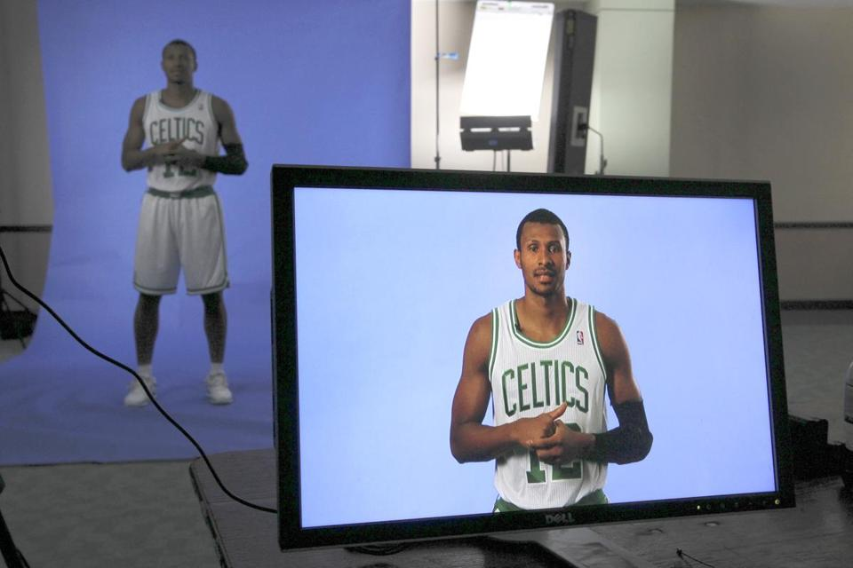 New Celtic Leandro Barbosa showed up at practice — and was soon showing up in a promotional video for the team.
