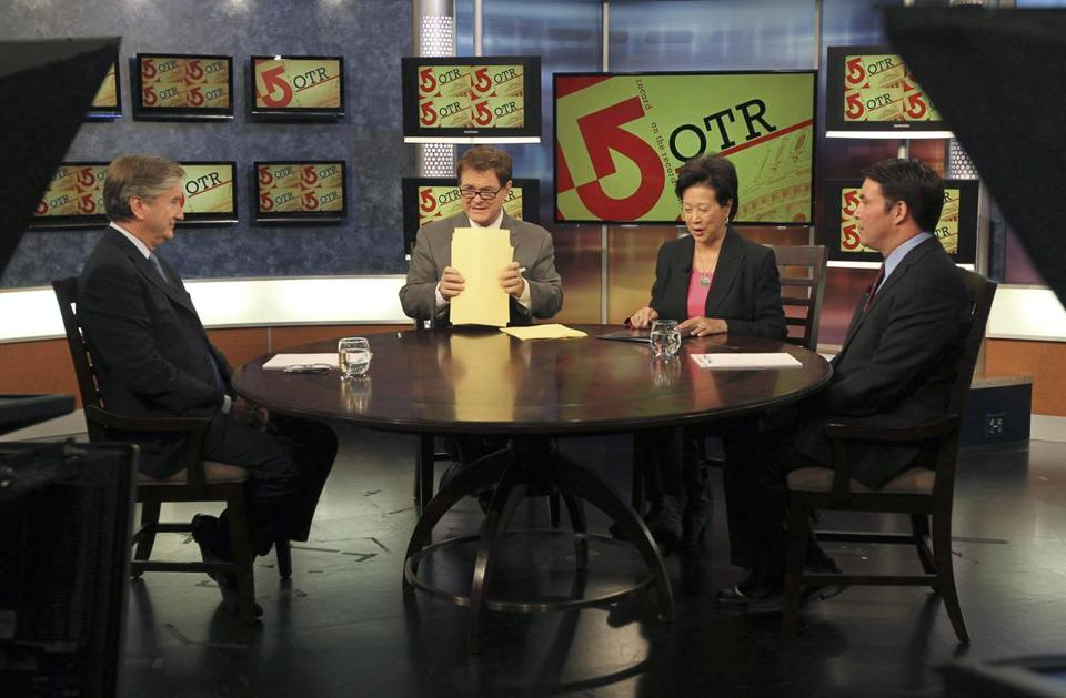 John F. Tierney and challenger Richard Tisei taped a debate Thursday that will air on WCVB-TV on Sunday.