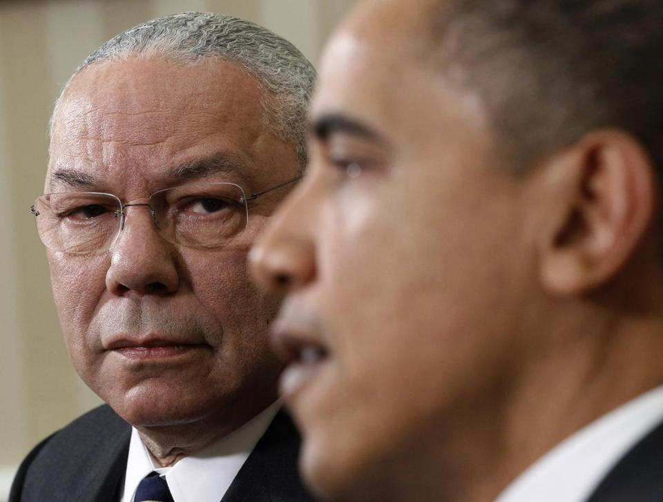 In an interview on ''CBS This Morning,'' Colin Powell said he was ''more comfortable'' with the president's views on immigration, education, and health care.