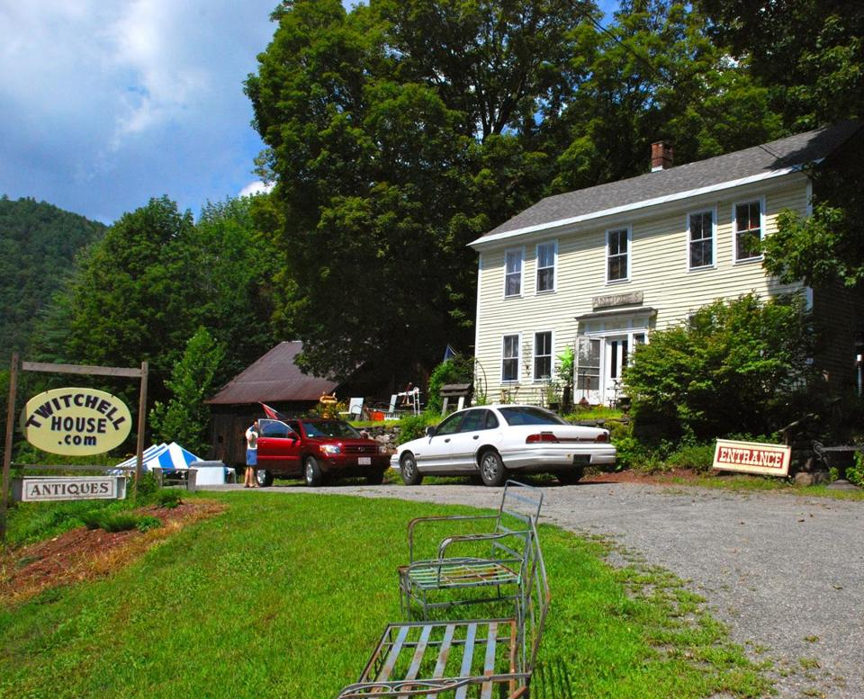 Twitchell House Antiques on Vermont Route 30 has rooms full of finds.