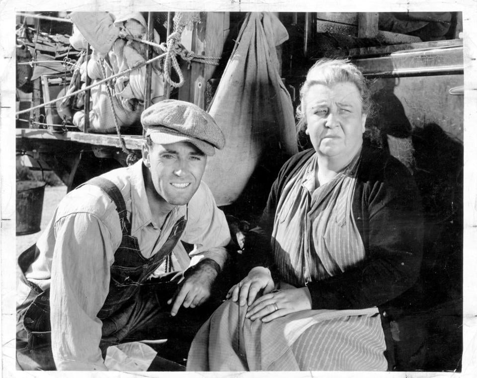 "Henry Fonda and Jane Darwell in ""The Grapes of Wrath,"" a political manifesto based on John Steinbeck's novel."