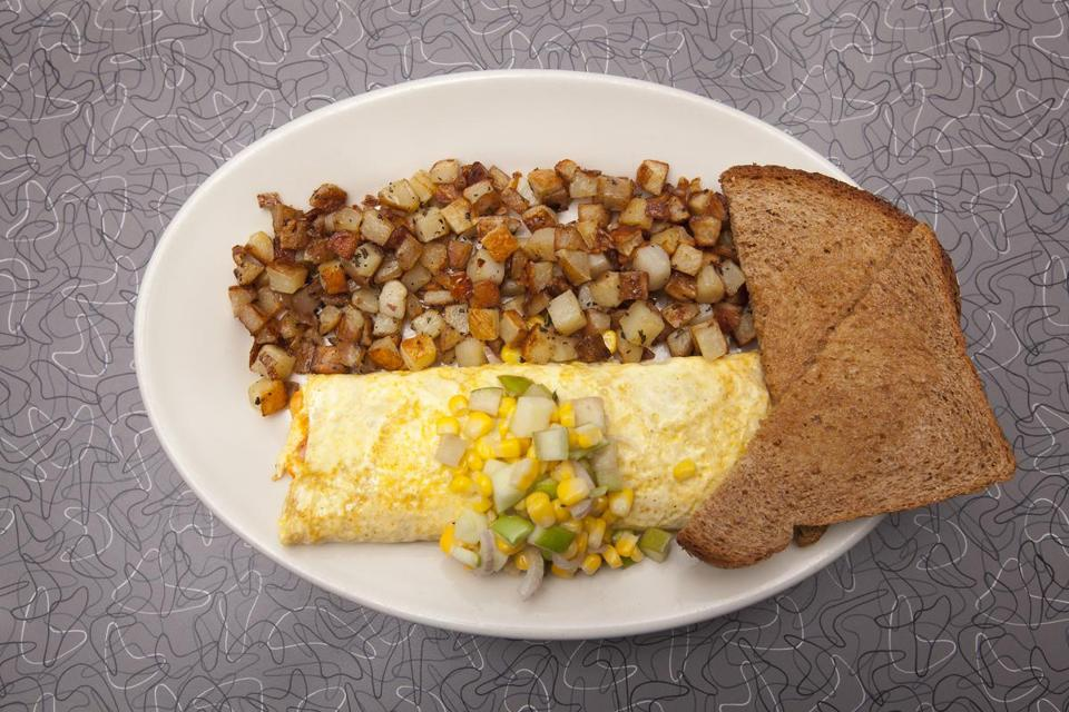The Cambridge Street omelet at Veggie Galaxy in Central Square.