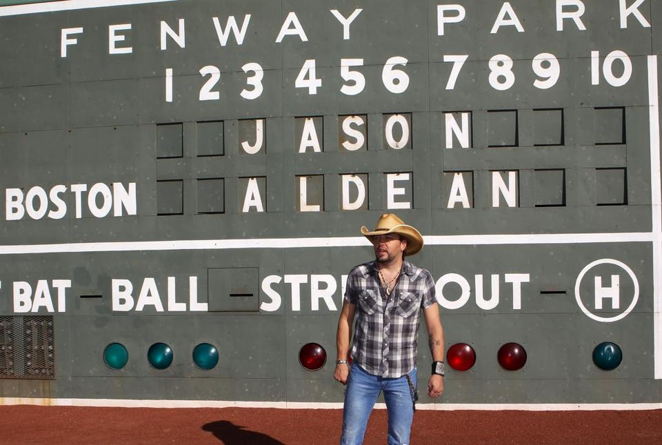 Jason Aldean recently stopped by Fenway Park to announce a pair of concerts he'll be playing there next summer.