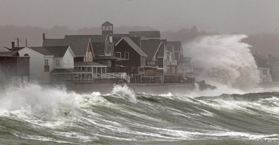 Waves from Hurricane Sandy lashed the coast in Scituate last month. Half the world lives within 120 miles of the sea,