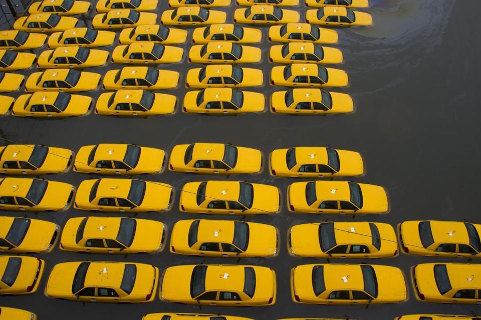 Hoboken Sandy Flooding Flooded in Hoboken N.j