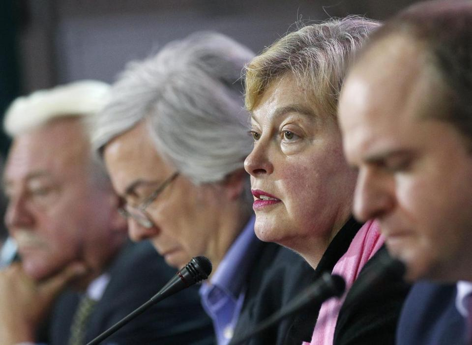 Walburga Habsburg Douglas (second from right), head of an observer mission, said the democratic process failed