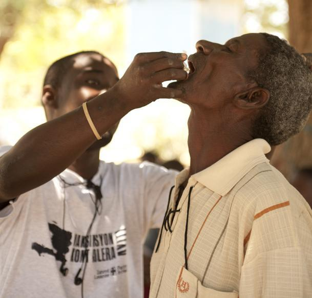 Cholera vaccine distribution/Photo courtesy Partners in Health.