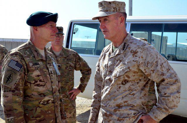 Marine General Joseph F. Dunford (right) could lead the withdrawal of American forces in Afghanistan.