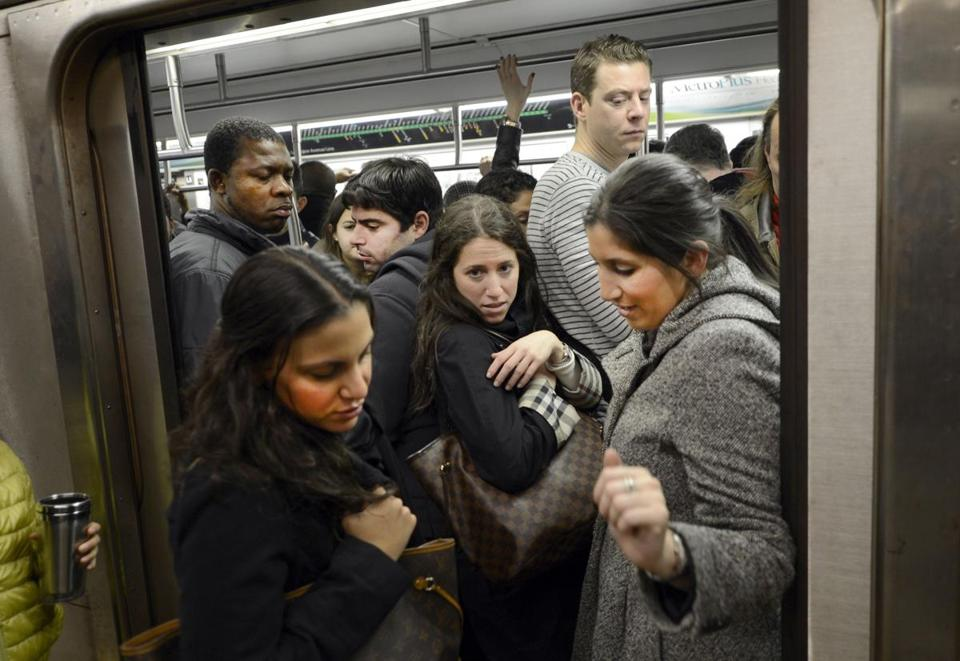 New York's subways were crowded as limited service resumed on Thursday following extensive storm damage.